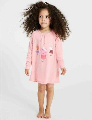 NEW M&S Girls Peppa Pig Pink Nightdress Size 2-3 YEARS BNWT Nightie