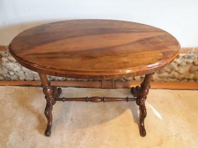 Table hall lamp side console Victorian Walnut c1880