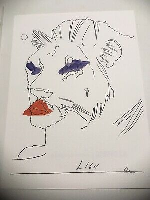 ANDY WARHOL: Lion Leone photolithography signed numbered for BOLAFFIARTE 1974