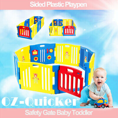 Sided Baby Panel Playpen Safety Gate Toddler Room KIDS 8 panel 1.6x1.6m 3 shapes