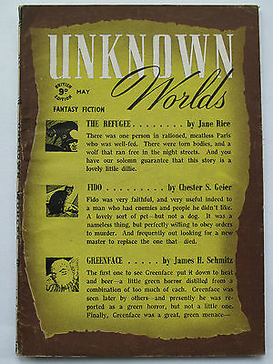British Fantasy Pulp - UNKNOWN WORLDS May 1944 – Anthony Boucher