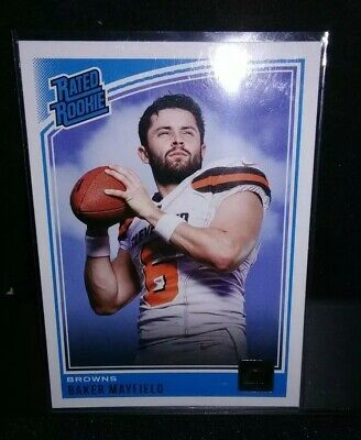 2018 Donruss Baker Mayfield Rated Rookie Card Cleveland Browns
