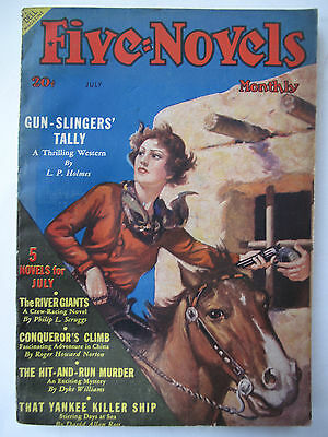 U.S.A. Pulp Magazine - FIVE NOVELS MONTHLY July, 1938