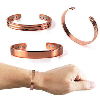 Cuff Copper Bracelet Healing Bio Therapy Arthritis Pain Relief Bangle Magnetic
