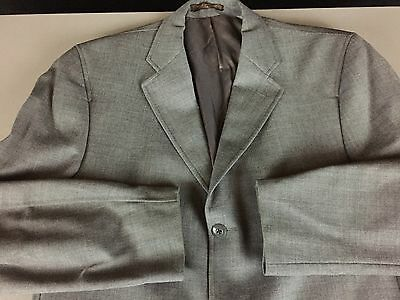 Chaps by Ralph Lauren Gray Blazer Sport Coat Size 42T 100% Wool Three Button