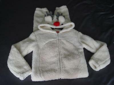 Childs Fluffy Reindeer Christmas All In One Age 7/8 Years