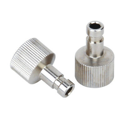 "2Pcs 1/8"" fittings Airbrush Quick Disconnect Coupler Hose Connector Release Y1O6"