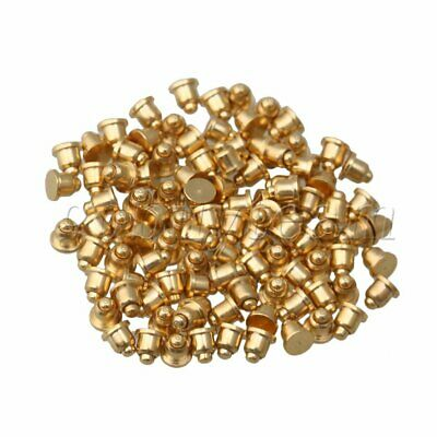 Gold Plated Copper Pogo Pins Probes 2mm Dia 2mm Height Pack of 100