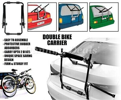 Double Bike Car Boot Rack 2 Bicycle Cycle For Toyota Land Cruiser 2003 - 2009