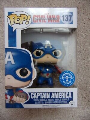Funko Pop! CAPTAIN AMERICA  #137 Marvel Civil War FIGURE Underground Exclusive