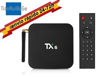 TX6 4+32G/64G Android 9.0 Smart TV BOX Allwinner H6 Quad Core  2,4G y 5G WIFI