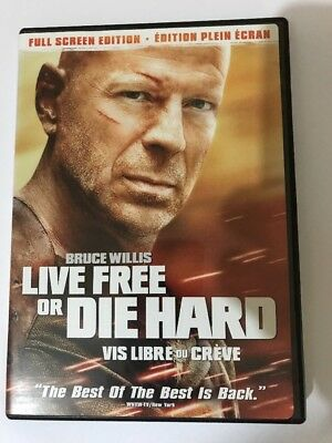 Live Free Or Die Hard Dvd 2007 Full Screen Edition Canadian Bruce Willis