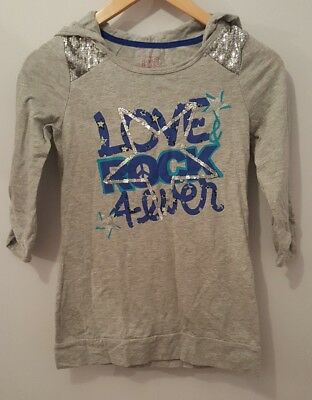 Girls SlipOver Hoodie Grey 3/4 Sleeves By CanyonRiverBlues Size  Age10/12<MP1404