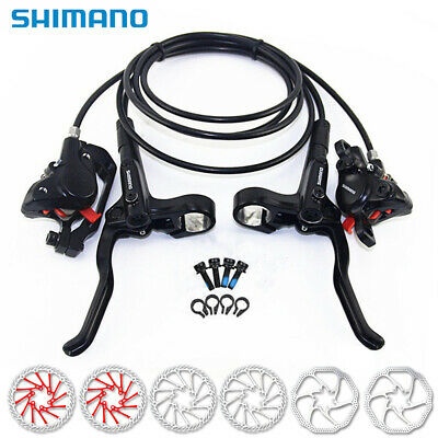 Shimano BR+BL-MT200 MTB Bicycle Hydraulic Disc Brake Front & Rear with 2pc Rotor