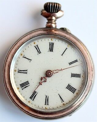 Pocket Watch - Small Antique - Silver - Swiss Made - Vintage - Rare