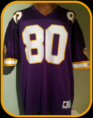 39a79a36e Vintage Minnesota Viking Chris Carter Champion Authentic Replica Jersey  Adult 44