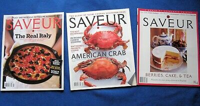 SAVEUR Magazine - Lot of Three (3) Issues - ALL MAY Issues - 2005 - 2008 - 2009