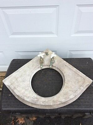Antique Victorian Marble Vanity Sink - C 1890 Architectural Salvage