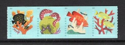 US 2019 NEW CORAL REEFS NH Coil Strip of 4 - Post Card Rate - Free USA Shipping