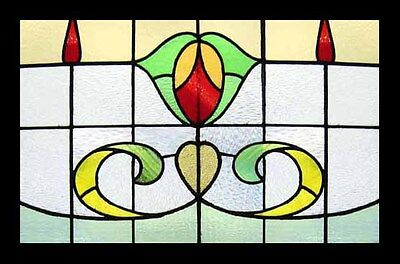 Antique Victorian Stained Glass Window SUMMER BEAUTY