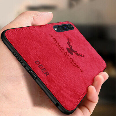 For Samsung Galaxy A50 A30 A10 Hybrid Soft TPU Leather Shockproof Case Cover