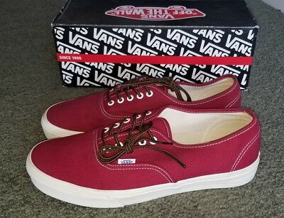 733ab635525a Vans Authentic (Vintage) Tibetan Red - Marshmallow Tc6D Men s Size 11.5 Euc