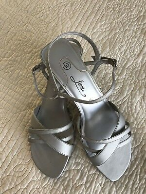 718a15f99b FIONI SILVER WEDGE Shoes. Women's size 10. Worn Once - $11.00 | PicClick