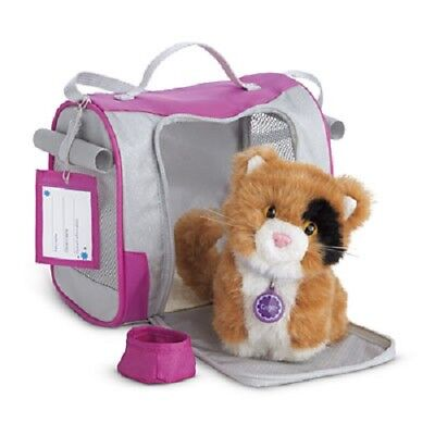 American Girl Doll Pet Carrier Silver and Pink NEW!! Travel Water Pouch