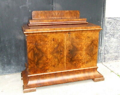 Art Deco Sideboard, Side Cabinet, Buffet. 1920s, 1930s Vintage Antique Walnut.