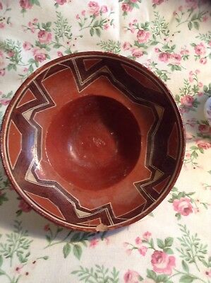 Antique Terracotta Bowl Geometric Patterning Indus?