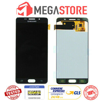 SAMSUNG Display LCD + Touch Screen Per Galaxy A5 2016 SM-A510F Nero