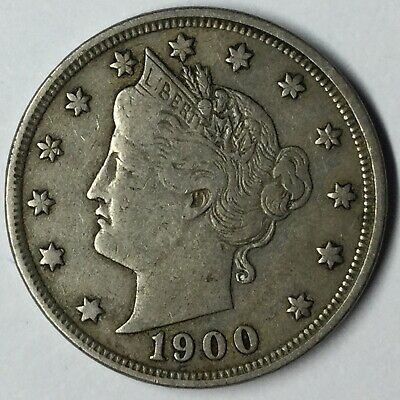 1900 5C Liberty Nickel XF Uncertified #