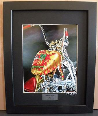 Indian Larry Rat Fink Daddy-O Bobber Ltd Edition Signed Framed Motorcycle Print