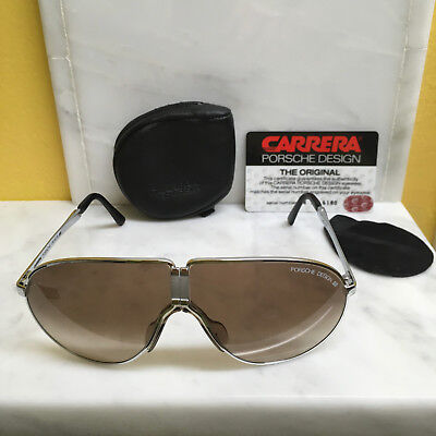 aa2757fdb02c Porsche Design Vintage Nos Folding Sunglasses 5622 In A Polished Silver  Frame!