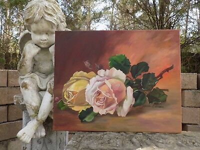 Cabbage Roses ~ Vintage Inspired Still Life with Shabby Cottage Roses ~ Chic