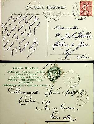 France 1903-04 2 Scarce Ppc 1 With Telegraphs Text