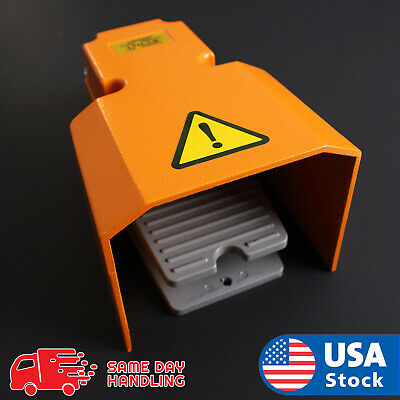 Extra Heavy Duty Foot Switch W Guard 15A 250VAC SPDT Electric Pedal Momentary
