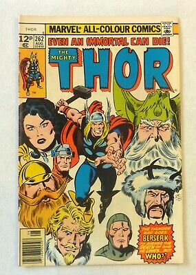 The Mighty Thor 262 Marvel Comics VFN Condition Bronze Age 1977