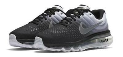 new style f7a0b 06324 NIKE AIR MAX 2017 Big Kids' Running Shoes (5.5 Youth) White Black 851622-003
