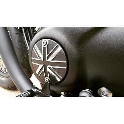 Motone Clutch Badge Union Jack Black/Polish Triumph Bonneville Bobber/T120/T100