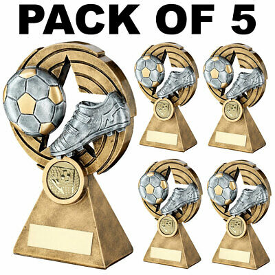 Pack 5 Football Trophies Resin Awards 4.75in Job Lot FREE Engraving NEW 2019
