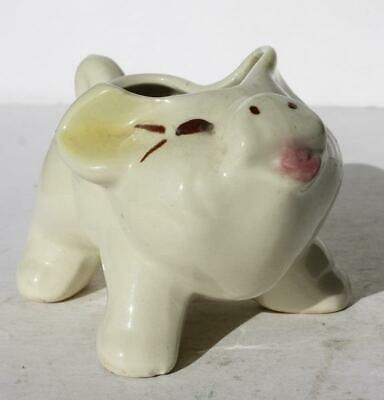 Pig Creamer Small Planter Figurine Ceramic-Pottery Hand Painted Vintage Adorable
