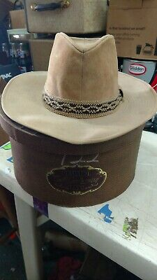 5fa0f37fe3fed Vintage Resistol Stagecoach Self Conforming Cowboy Hat Size 7-1 8 and box