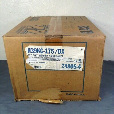Box of 12 Philips H39KC-175 DX HID 175W Coated Bulbs New Old Stock 24805-4 NEW