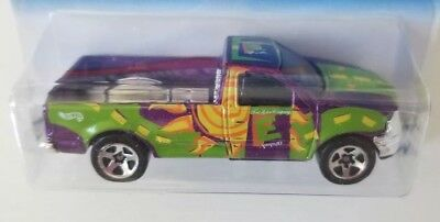 New! Hot Wheels - Purple Ford F-Series CNG Pickup Truck #22068- Collector #908