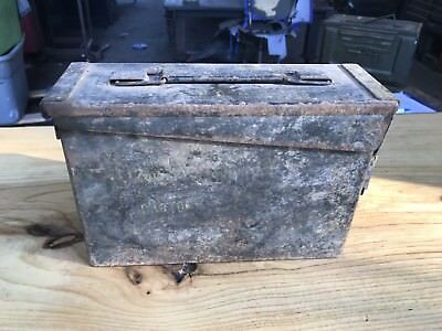 AMMO Can Box US Army Military 7.62MM Ammunition Metal Storage Weathered