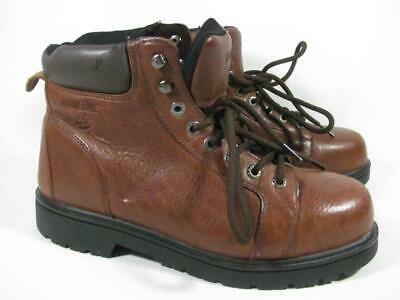04125265d53 WOLVERINE MANAWA MENS Size 9.5 Brown Leather Safety Toe Work Boots ...
