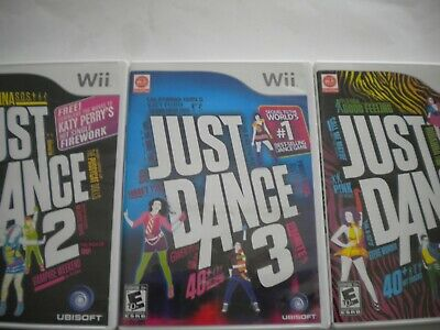 NINTENDO WII LOT 4 JUST DANCE 2 3 4 dance COMPLETE U BUNDLE