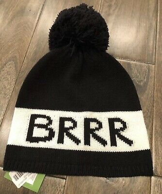 0c51703a509d NEW Kate Spade BRRR Winter Beanie Hat Cap Black White NWT FREE Shipping
