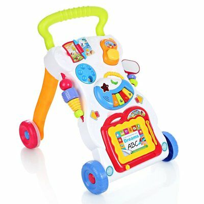 Baby Walker 2 In 1 First Steps Sounds and Lights Fun Child Push Activity